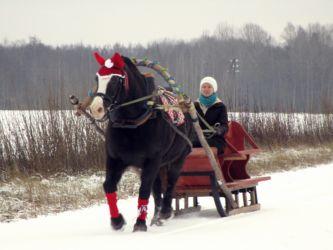brauciens pajūgā ziemā !