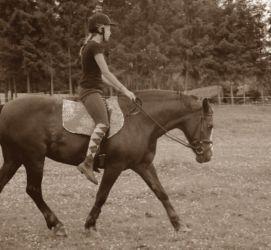 Liene Zāģere treniņā ar Zuzi!